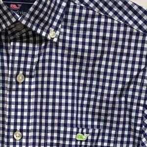 Vineyard Vines Blue Check Tucker Shirt Size XS
